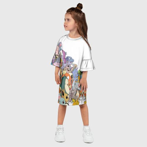Детское платье 3D  Фото 03, Покемоны