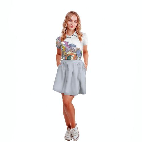 Женская рубашка поло 3D Покемоны Фото 01