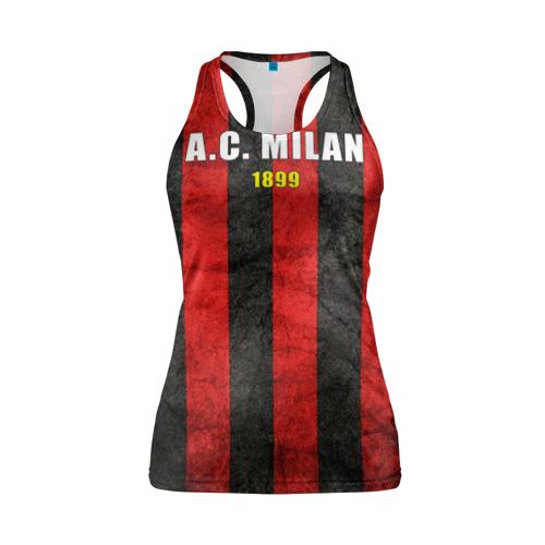 Женская майка 3D спортивная A.C. Milan