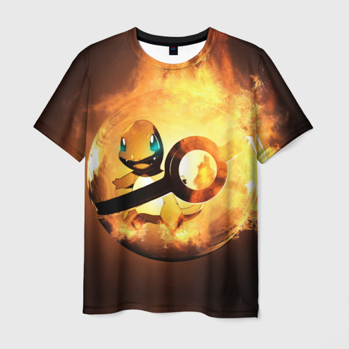 Мужская футболка 3D Покеболл