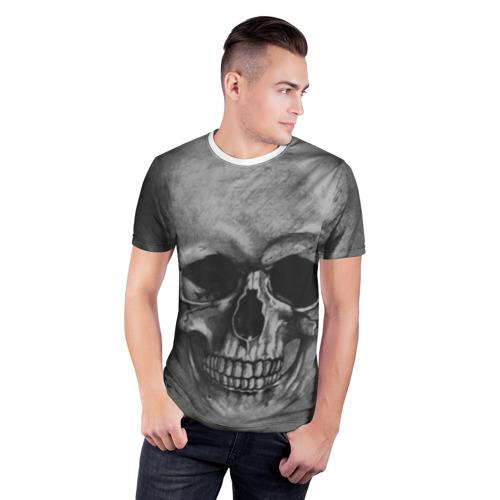 Мужская футболка 3D спортивная  Фото 03, Череп