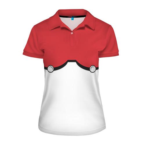 Женская рубашка поло 3D Покеболлы