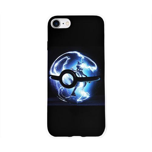 Чехол для Apple iPhone 8 силиконовый глянцевый  Фото 01, Покеболл