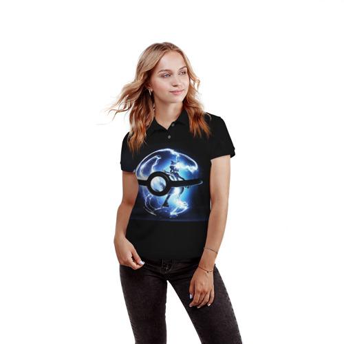 Женская рубашка поло 3D Покеболл Фото 01