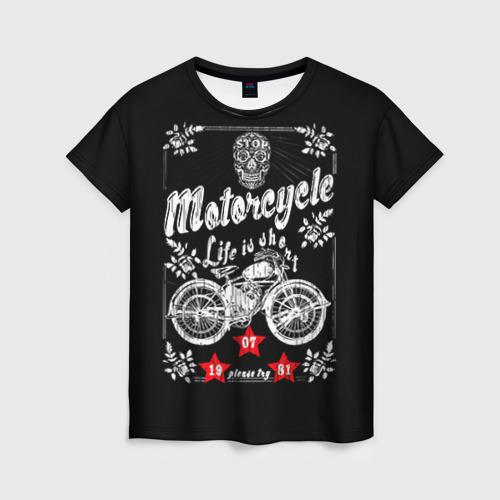 Женская футболка 3D Moto t-shirt 2