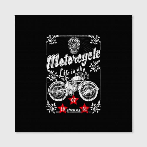 Холст квадратный  Фото 02, Moto t-shirt 2
