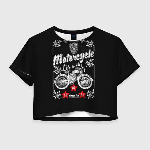 Женская футболка Crop-top 3D Moto t-shirt 2