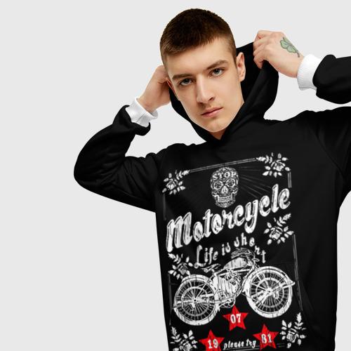 Мужская толстовка 3D  Фото 01, Moto t-shirt 2