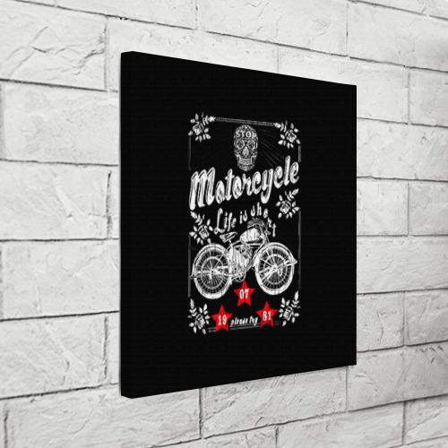 Холст квадратный  Фото 03, Moto t-shirt 2
