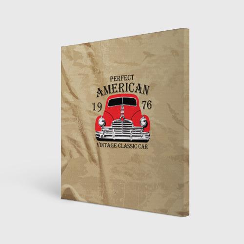 Холст квадратный American retro auto Фото 01
