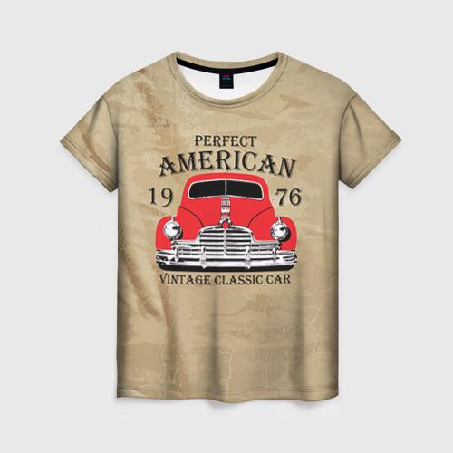 Женская футболка 3D American retro auto Фото 01