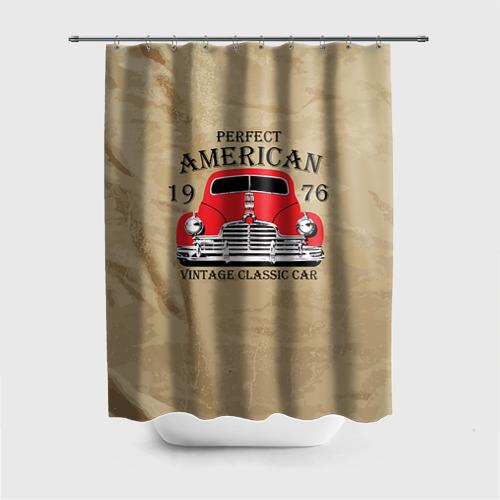 Штора 3D для ванной American retro auto Фото 01