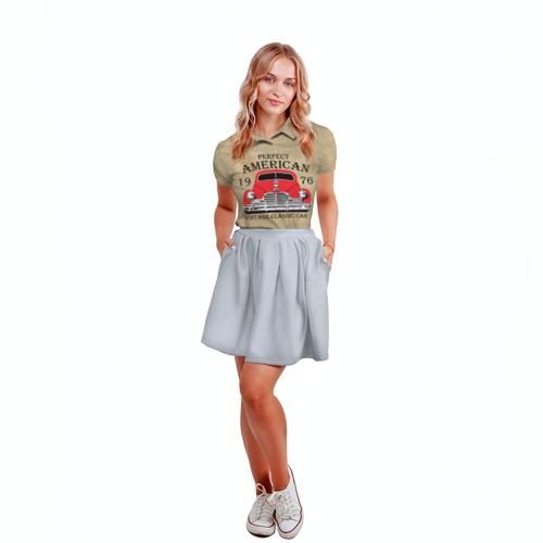 Женская рубашка поло 3D American retro auto Фото 01