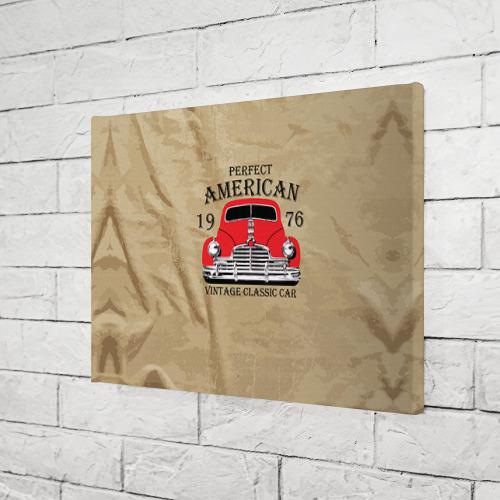 Холст прямоугольный  Фото 03, American retro auto