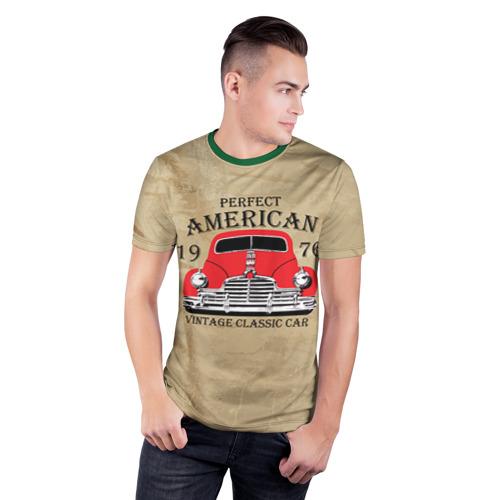 Мужская футболка 3D спортивная American retro auto Фото 01