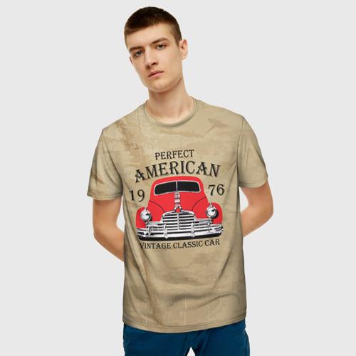 Мужская футболка 3D American retro auto Фото 01