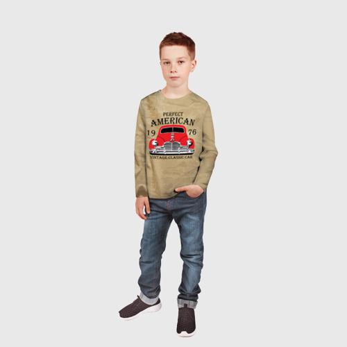 Детский лонгслив 3D American retro auto Фото 01