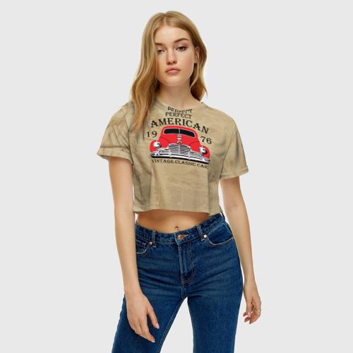 Женская футболка Cropp-top  Фото 04, American retro auto