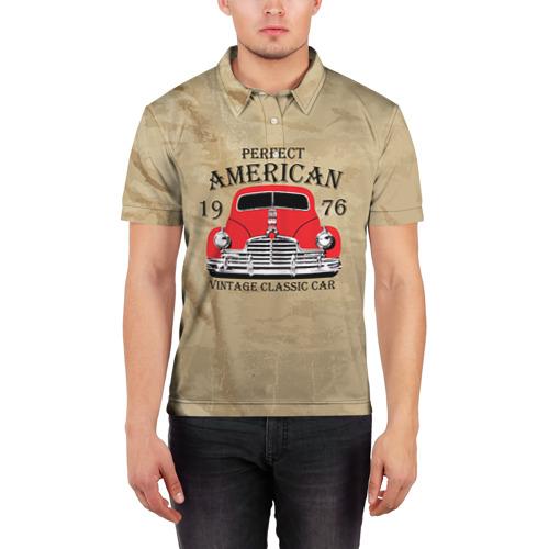 Мужская рубашка поло 3D  Фото 03, American retro auto