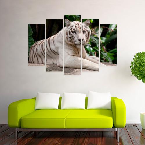 Модульная картина М20  Фото 03, Белый тигр