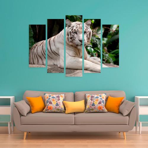 Модульная картина М20  Фото 06, Белый тигр