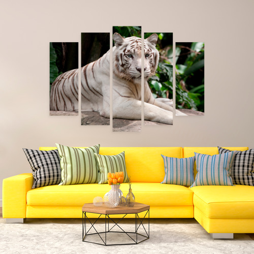 Модульная картина М20  Фото 08, Белый тигр