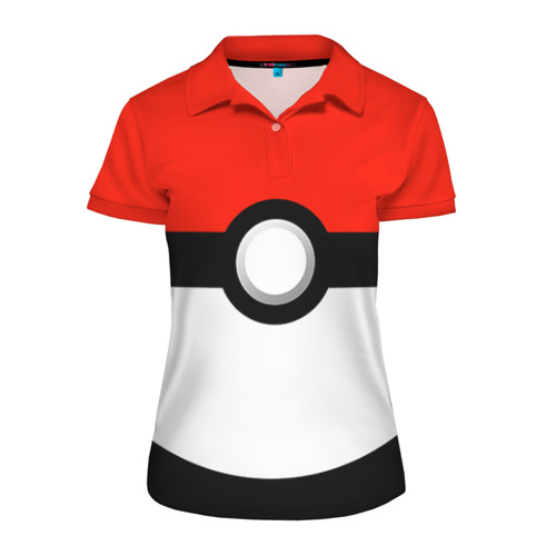 Женская рубашка поло 3D Тренер покемонов