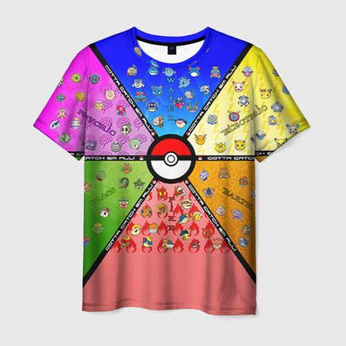 Мужская футболка 3D Собери их всех!
