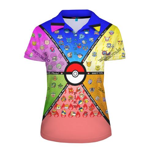 Женская рубашка поло 3D Собери их всех!