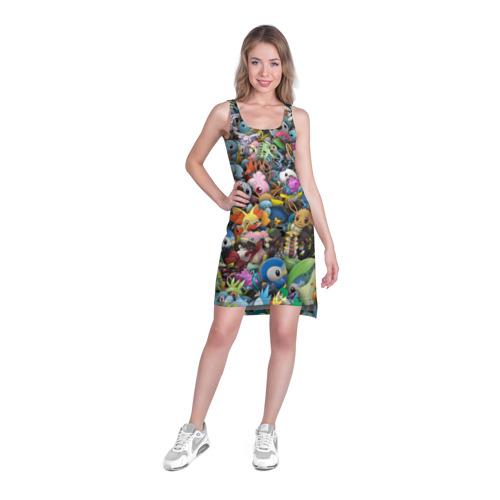 Платье-майка 3D  Фото 03, Покемоны. Стикербомбинг