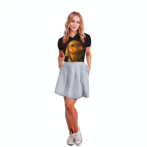 Женская рубашка поло 3D Пика-Пика? Фото 01