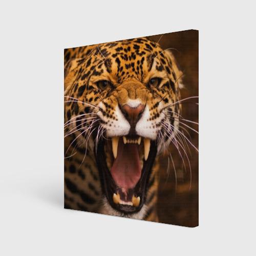 Холст квадратный  Фото 01, Леопард