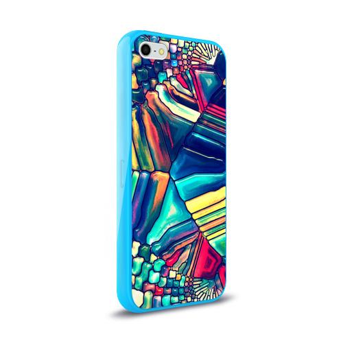 Чехол для Apple iPhone 5/5S силиконовый глянцевый Block mosaic Фото 01