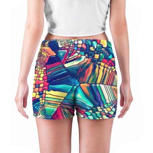 Женские шорты 3D  Фото 04, Block mosaic