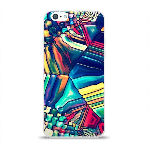 Чехол для Apple iPhone 6 силиконовый глянцевый Block mosaic Фото 01