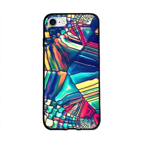Чехол для Apple iPhone 8 силиконовый глянцевый Block mosaic Фото 01