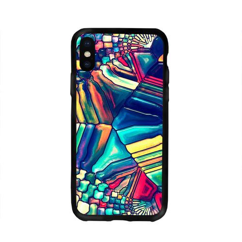Чехол для Apple iPhone X силиконовый глянцевый Block mosaic Фото 01