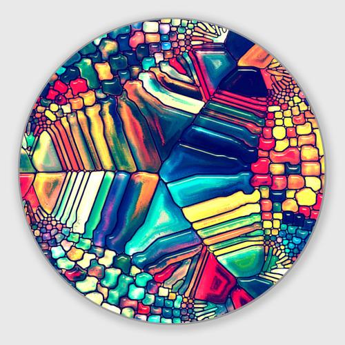 Коврик для мышки круглый Block mosaic Фото 01