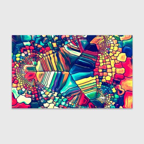 Бумага для упаковки 3D Block mosaic Фото 01