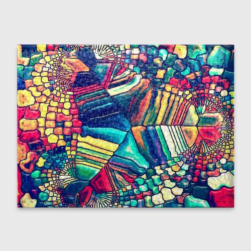 Обложка для студенческого билета Block mosaic Фото 01