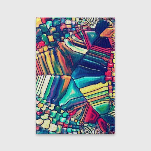 Обложка для паспорта матовая кожа Block mosaic Фото 01