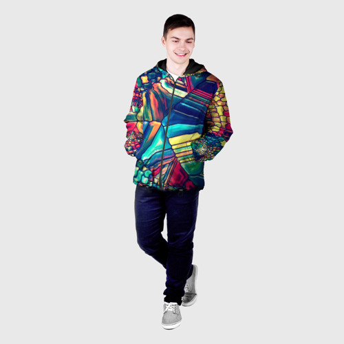 Мужская куртка 3D Block mosaic Фото 01