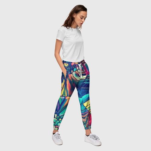Женские брюки 3D Block mosaic Фото 01