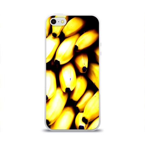 Чехол для Apple iPhone 5/5S силиконовый глянцевый Бананы Фото 01