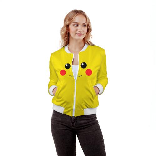 Женский бомбер 3D  Фото 03, Happy Pikachu