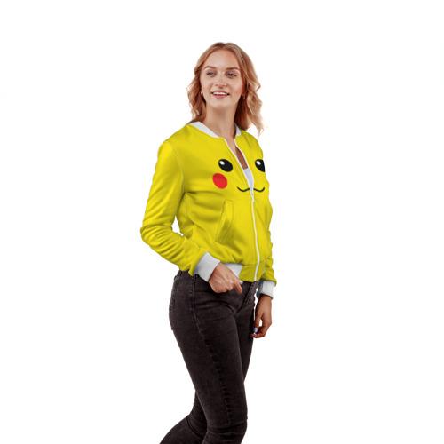 Женский бомбер 3D  Фото 04, Happy Pikachu