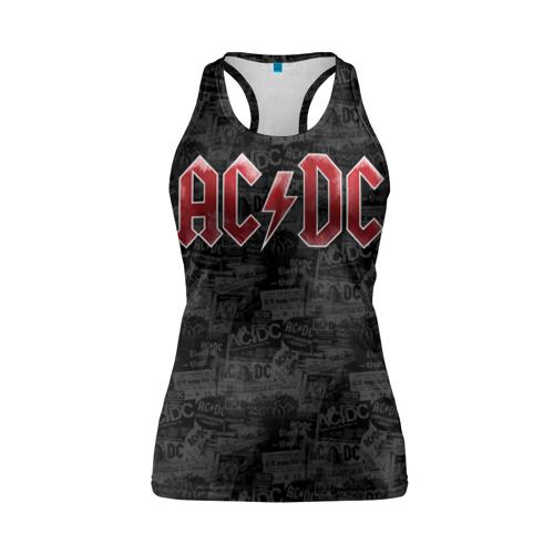 Женская майка 3D спортивная AC/DC