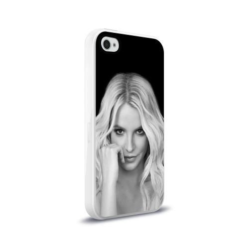 Чехол для Apple iPhone 4/4S силиконовый глянцевый Бритни Спирс Фото 01