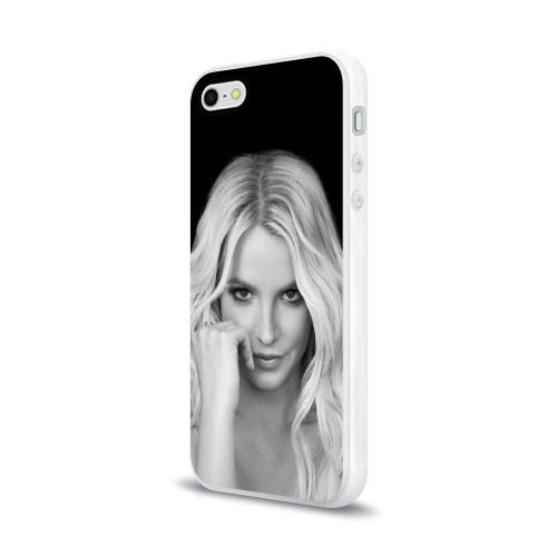 Чехол для Apple iPhone 5/5S силиконовый глянцевый Бритни Спирс Фото 01