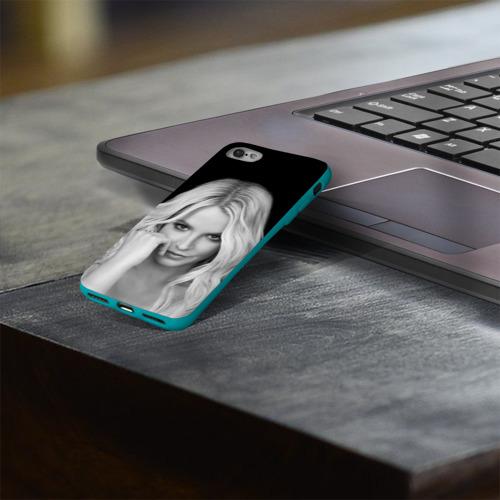 Чехол для Apple iPhone 8 силиконовый глянцевый Бритни Спирс Фото 01